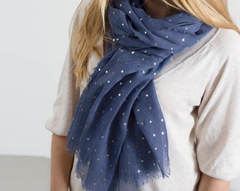 Personalised Supersoft Sparkle Star Scarf (HBS02 / HBS03)
