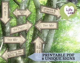 Your Wonderland Story Direction Signs