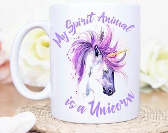 My Spirit Animal is a Unicorn Mug, Custom Unicorn Mug, Magical Unicorn Coffee Mug, Personalized Unicorn Mug, Unicorn Monogram Coffee Mug