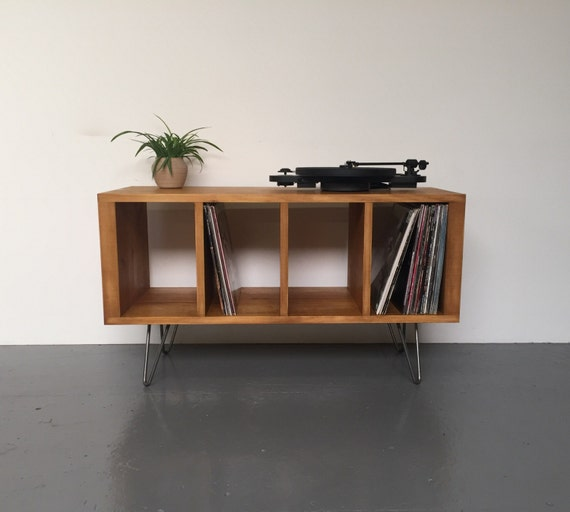 sonor small record player or tv stand with vinyl storage on. Black Bedroom Furniture Sets. Home Design Ideas