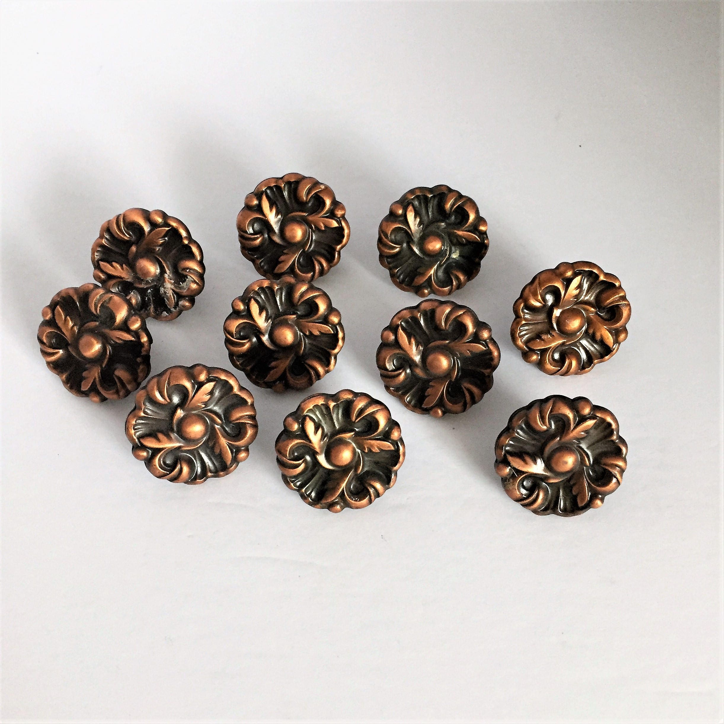 copper drawer pulls vintage rose copper knobs copper drawer knobs ...