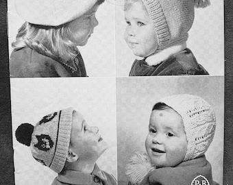 P&B 1318 Vintage Children's Knitting Pattern