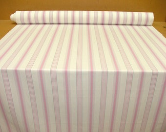 Fryetts Deck Chair Stripe Pink White Cotton Curtain Upholstery Blinds Cushion Use Fabric