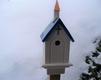 Gold Cross Bluebird House