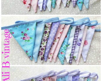 multi colour bunting vintage style bunting fabric bunting vintage floral bunting home decor bunting photo  nursery bunting garden bunting