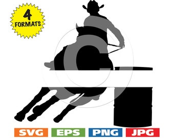 Male Barrel Racer image with Space for Personalization - svg cutting file PLUS eps/vector, jpg, png - 300dpi