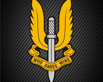 Brittish Military SAS Special Forces Vinyl Decal