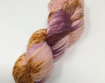 Dearest Indie Dyed Yarn on Merino cashmere Nylon MCN red gold speckled pink