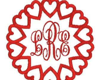 Monogram Heart Frame,Valentine Embroidery,Valentine Design,Digital Design,Monogram Frame