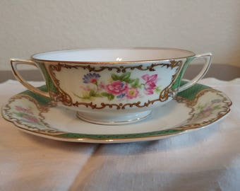 Gold Castle Cream Soup and Saucer Bowl
