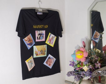 Photo Frame on T-Shirt(Black Color)-New Trend Wall Decorate-Idea for Home Decor