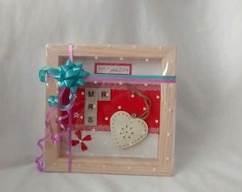 Handmade Mr and Mrs tile frame