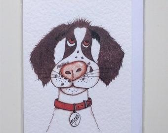 Dog greeting card - 2 card pack