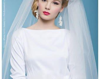 Beadwoven wedding earrings, beaded coral earrings, beadwork, ivory-white earrings, gift for you, handmade earrings, seed bead bridal jewelry