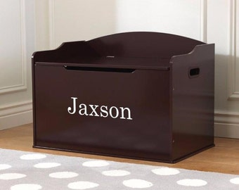 Modern Touch Personalized Toy Box - Cherry