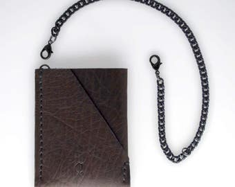 KARTA Leather card holder with a chain