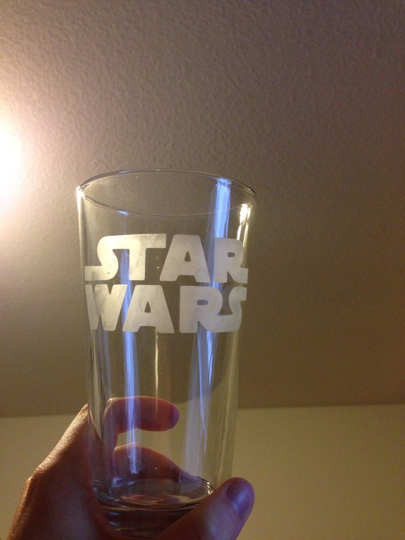 Glass etched Star Wars tumbler