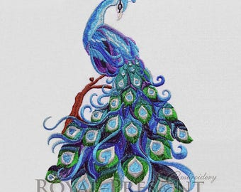 Machine Embroidery Design Luxurious peacock - 3 sizes