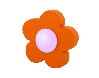 Decorative door knobs Wooden drawer pulls, Nursery dresser knobs and pulls, Orange flower wardrobe handles, Kids drawer knobs, Dresser decor