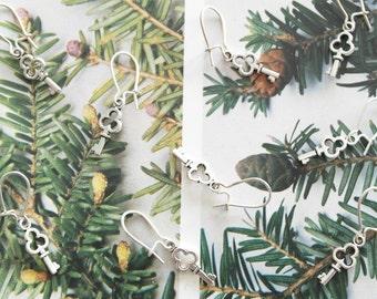 Irish key earrings