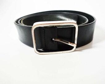 Next Vintage Mens Leather Belt Black