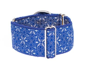 1,5 inch Martingale collar, blue,  martingale dog collar,whippet, greyhound collar, martingale collar,collars,dogs collars,martingales