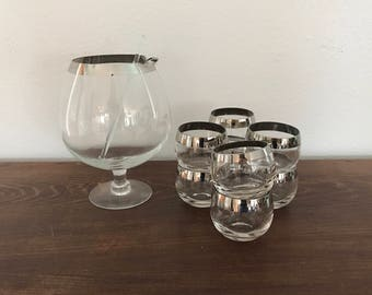 Dorothy Thorpe Style Pitcher and Glasses Set - Roly Poly - 8 Glasses