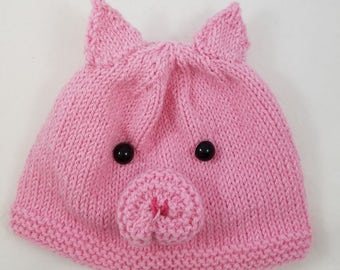 Pig Hat - Pig Baby Hat - Piglet Hat - Piggy Hat - Pig Hat for Kids - Pig Beanie - Teen Pig Hat - Photo Prop - Pink Piggy Hat - Girls Pig Hat