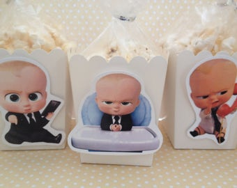 Boss Baby Popcorn or Favor Boxes - Set of 10