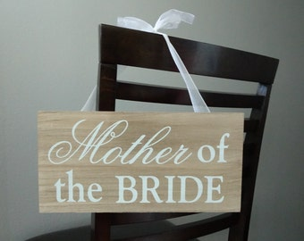 Mother & Father of the Bride Chair Sign for Wedding Ceremony, Wedding Chair Signs, Save Their Seat