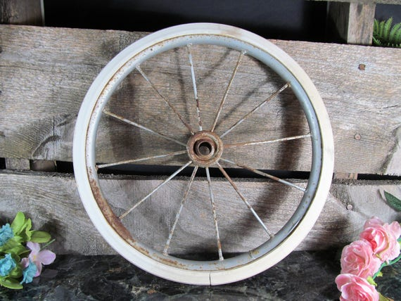 Vintage Wire Spoke Wheel Doll Cart Stroller Or Baby Carraige