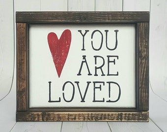 Mother's Day Gift Idea - You Are Loved- Gift For Mom - You Are Loved Sign - Mother's Day Gift- Love- Reclaimed Wood Sign - Nursery Decor