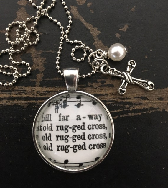 Old Rugged Cross Hymn Pendant With 24 Ball By