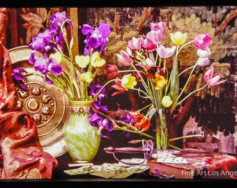 Autochrome Photo, Still Life with Flowers, 1900s