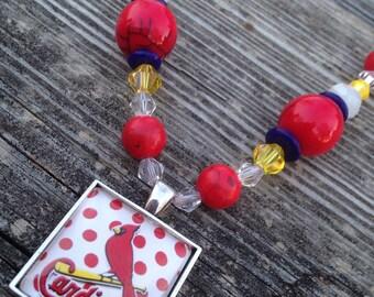 Jewelry - Necklace - Beaded necklace - Baseball neckace - St. Louis Cardinals - Cardinals baseball - St. Louis Cardinals jewelry - Cardinals