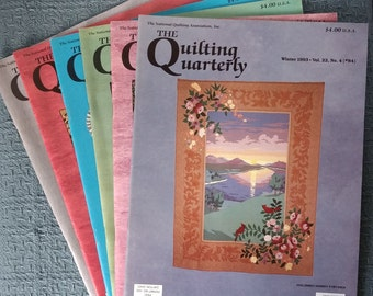 THE QUILTING QUARTERLY ~ 5 Issues ~ Winter 1993-Winter 1994 ~ #84-#88 ~ New Copies!