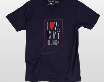Love is my religion tee shirt