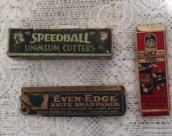 Three vintage tools