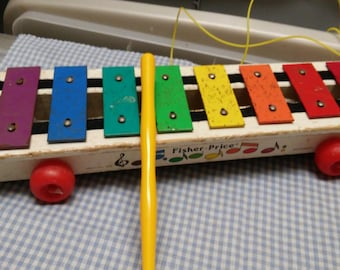 Fisher Price Xylophone #870 with Drum stick