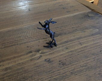 Hare Boxing - Bronze Sculpture