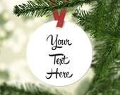 Custom Ornament, Personalized Ornament, Keepsake Ornament, Customized, Personalized, Customization Fees