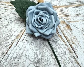 Blue Buttonhole Boutonnière Blue Groom Groomsmen Best Man Wedding Flowers - other colour/paper options & matching bouquet available