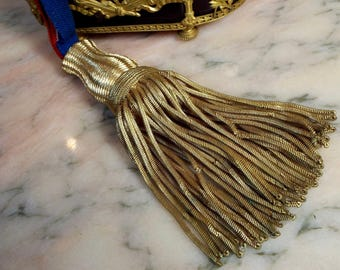 Antique French Tassel Gold Mettalic Bullion Work