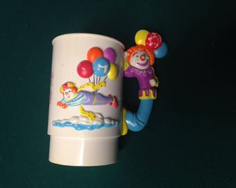 Ringling Bros Barnum Bailey Circus Memorabilia Mug Clown Balloons