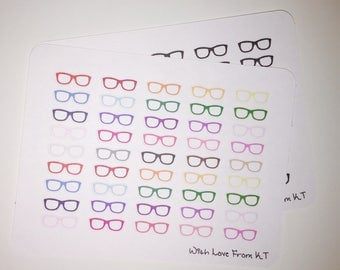 Glasses Icon Stickers