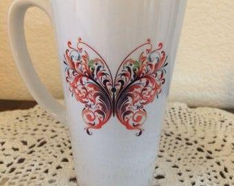 Butterfly 17oz. Latte Mug