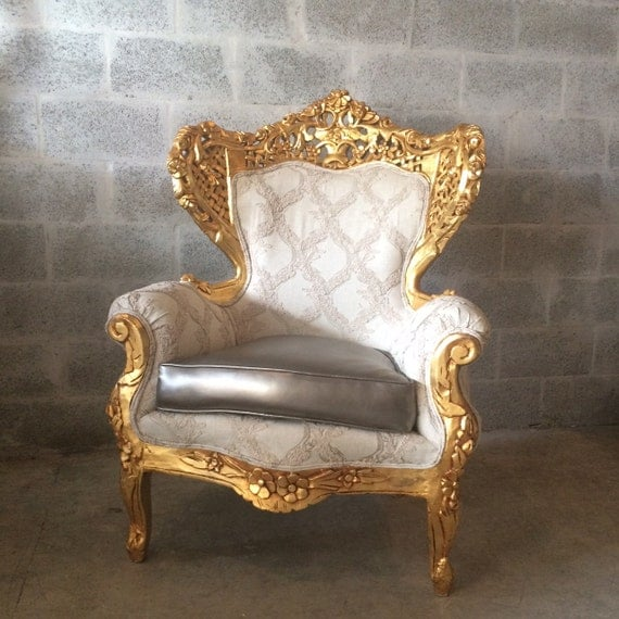 Rococo chair throne chair antique furniture interior design 2 for Antique baroque furniture
