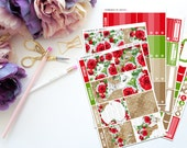 Roses are Red Vertical Weekly Kit-- Matte Planner Stickers