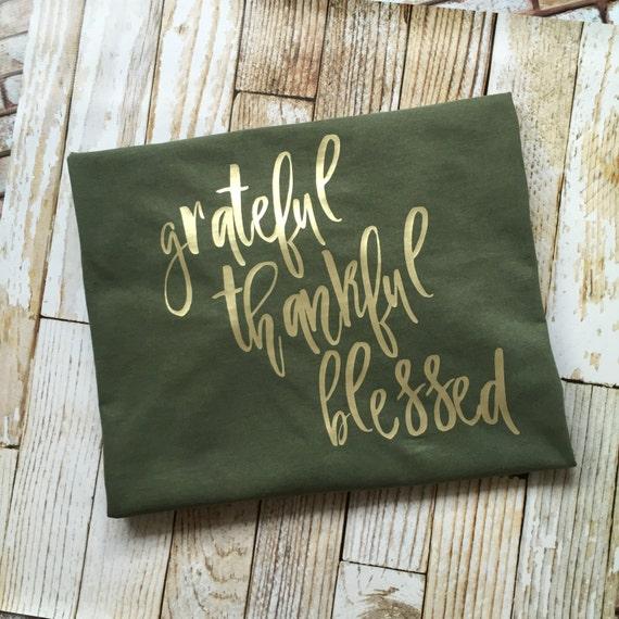 Grateful Thankful Blessed Women Plus Size Vinyl Long Sleeve