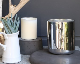 Chromed Glass Scented Soy Candle